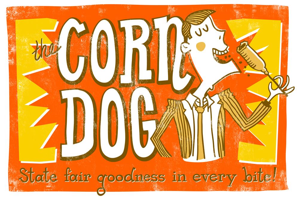 Corn Dog Print