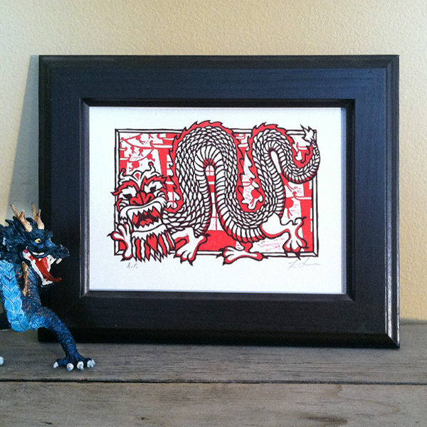 Framed Dragon Print