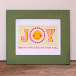 JOY Print Framed