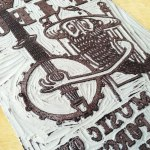 Play Music on the Porch Print Lino