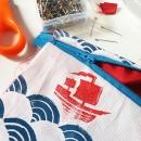 zipper bag - sewing the bag