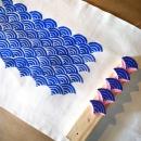 zipper bag - printing wave block