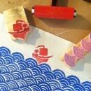 zipper bag - printing ship block
