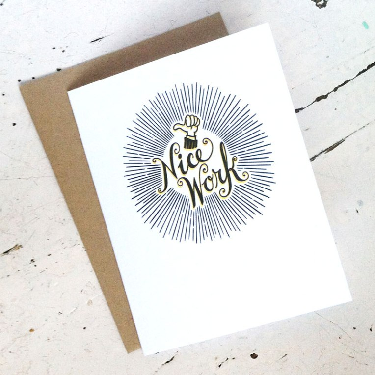 Nice Work A2 Card