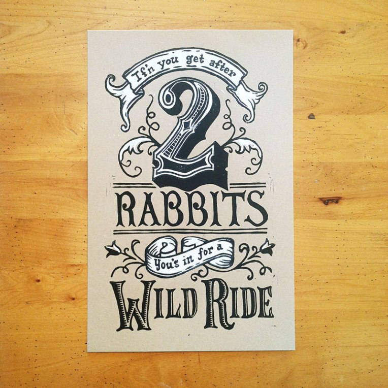 Two Rabbits Print Full