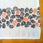 Polkadot Skull Tea Towel - zoom