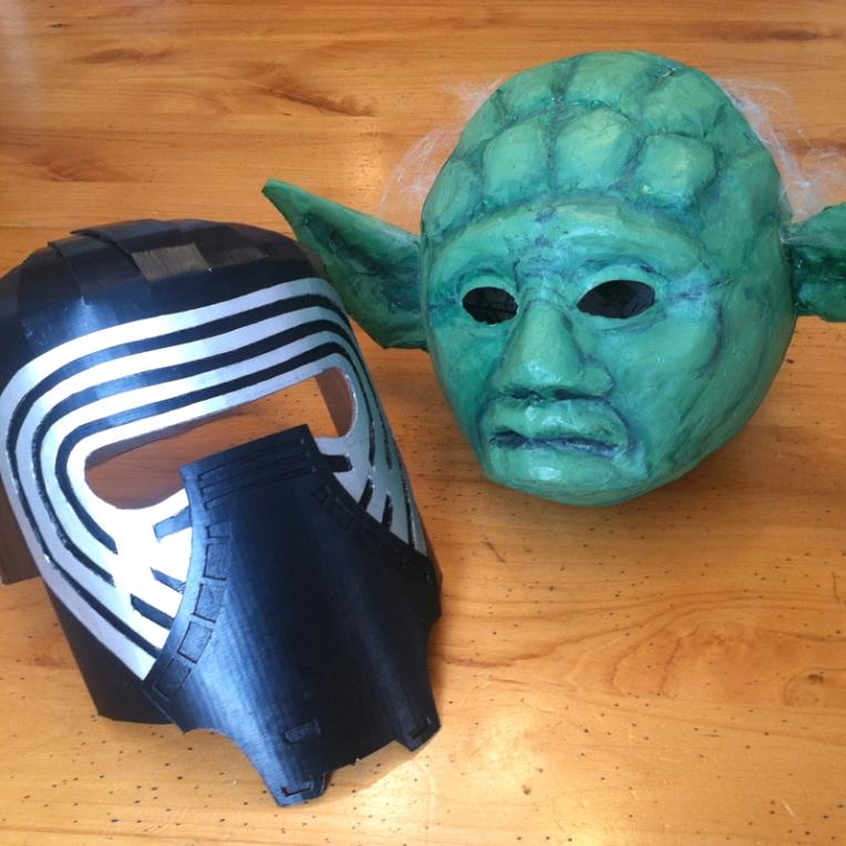 kylo ren and yoda masks