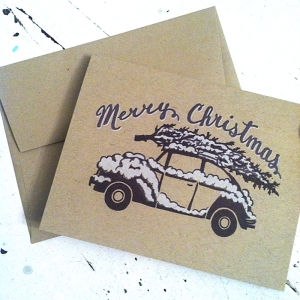 Christmas VW Card