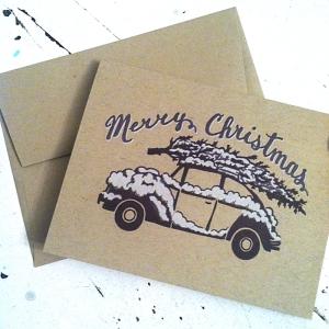 Christmas VW Card